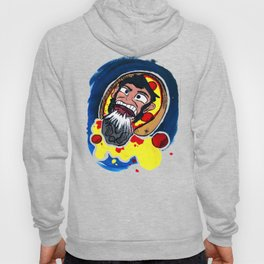 Abraham Lincoln, as a Pizza, being hit by a Meteorite in Space Hoody