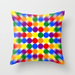 Polka Dot Psychedelic Pattern Throw Pillow