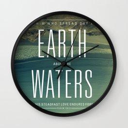 Earth//Waters Wall Clock