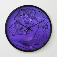 lunar Wall Clocks featuring LUNAR  by Enola Jay