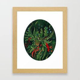 the Green Man Framed Art Print