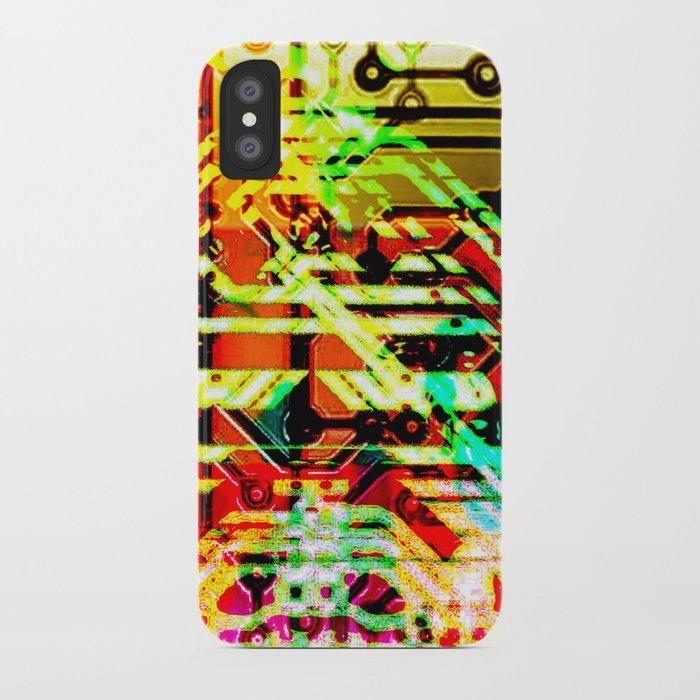 Color circuit iPhone Case