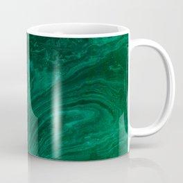 malachite green marbleized effect marble painting Coffee Mug