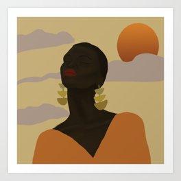 Head in Space Art Print