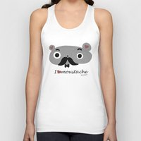 moustache Tank Tops featuring moustache by Sucoco