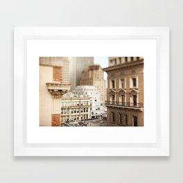 Tilt Shift San Francisco Framed Art Print
