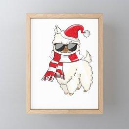 Christmas - Falala Llama Framed Mini Art Print