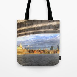 City of London and River Thames Tote Bag