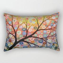 Abstract Art Landscape Original Painting ... Reaching For the Light Rectangular Pillow