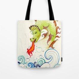 A happy dragon Tote Bag