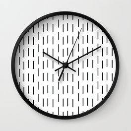 Rain that is falling on you constantly Wall Clock