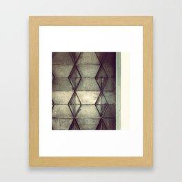 Hexagon/Diamond  Framed Art Print