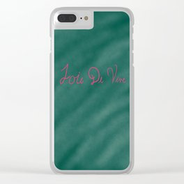 Joie De Vive (A delight in being alive) Clear iPhone Case