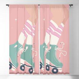 Roller skate girl 001 Blackout Curtain