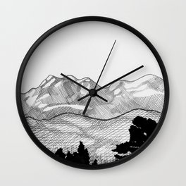 Colorado Mountains Wall Clock