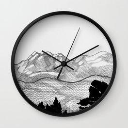 Colorado Mountains Wall Clock