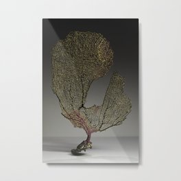 Purple Sea Fan III Metal Print