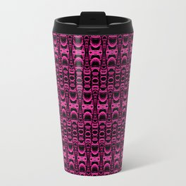 Dividers 07 in Purple over Black Travel Mug