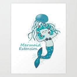 Mermaid Extension Art Print
