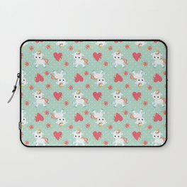 Baby Unicorn with Hearts Laptop Sleeve