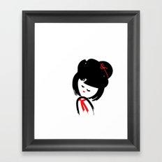 Cute Japanese Girl Framed Art Print
