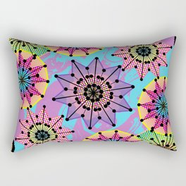 Vibrant Abstract Floral Pattern Rectangular Pillow