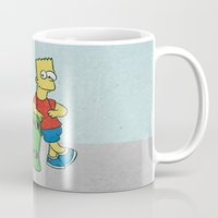 simpson Mugs featuring FART SIMPSON by Josh LaFayette