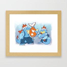 Johto Starters - The Diles Framed Art Print