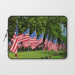 Flags Flying in Memoriam II Laptop Sleeve