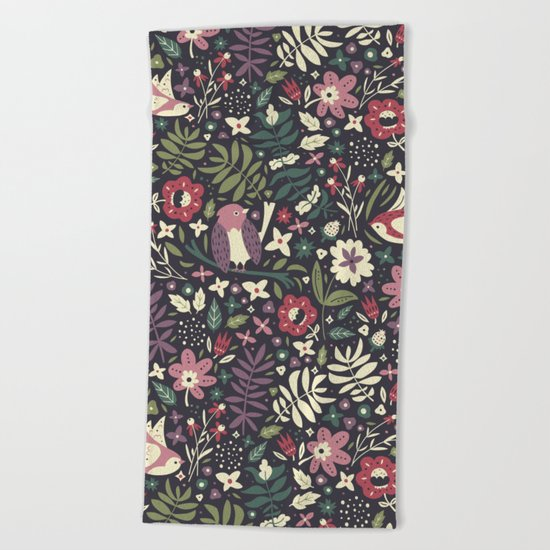 Little Birds Beach Towel