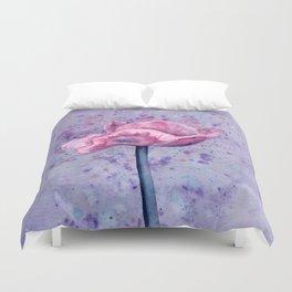 Lavender Floral Duvet Cover
