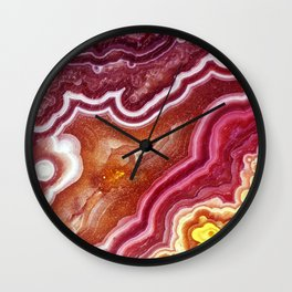 Red onyx marble Wall Clock