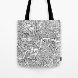 London Map White Tote Bag