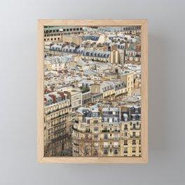 Parisian Rooftops Framed Mini Art Print