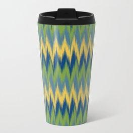 Bright Ikat Chevron Travel Mug