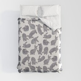 Bunny Poses Duvet Cover