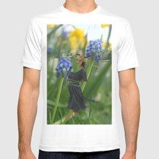 Flower Fairies White Mens Fitted Tee MEDIUM