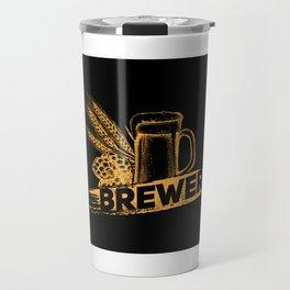 Brewer Hop Malt Beer I - Drinking Beer Gift Travel Mug