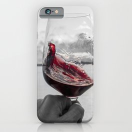 Swirling Red iPhone Case