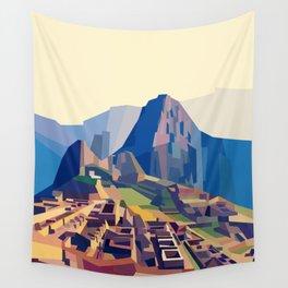 Geometric Machu Picchu, Peru Wall Tapestry