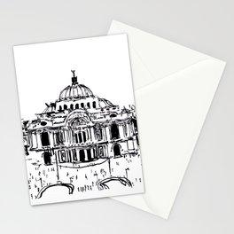 Palacio de Bellas Artes. Vista frontal.  Stationery Cards
