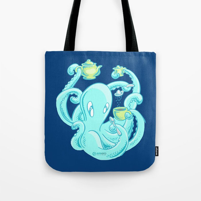 Squiggles: The perfect coffee (dark blue) Tote Bag