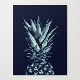 Navy Blue Pineapple Dream #1 #tropical #fruit #decor #art #society6 Canvas Print