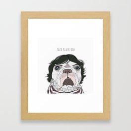 Celebrity Dog - Jack Black-Dog Framed Art Print