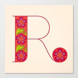 R - Amarilis Canvas Print