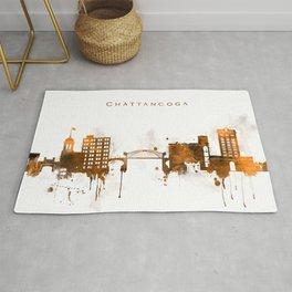 Chattanooga Warm Color Skyline Rug