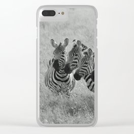 Zebras at Sunrise II Clear iPhone Case