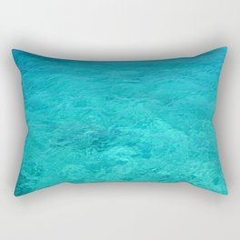 Clear Turquoise Water Rectangular Pillow