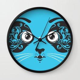 Cat face close-up Wall Clock