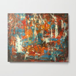 An Oasis In A Desert Abstract Painting Metal Print